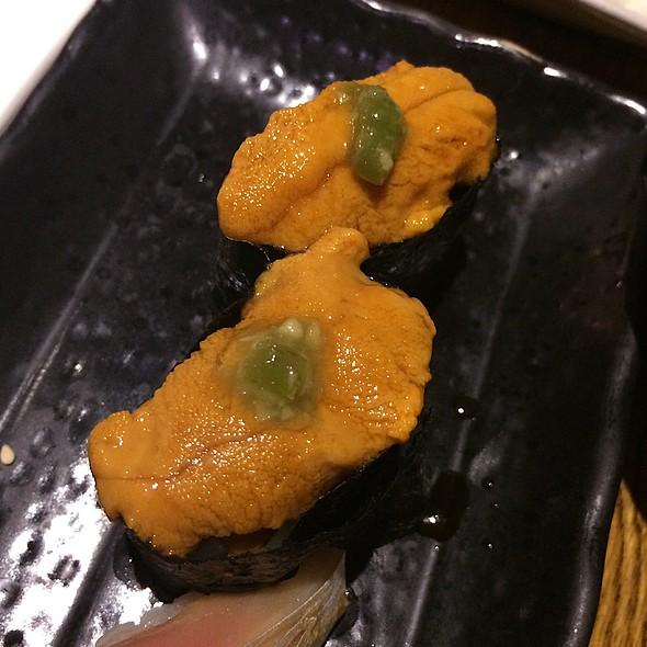 Santa Barbara uni nigiri @ DASH Japanese Tapas and Sushi
