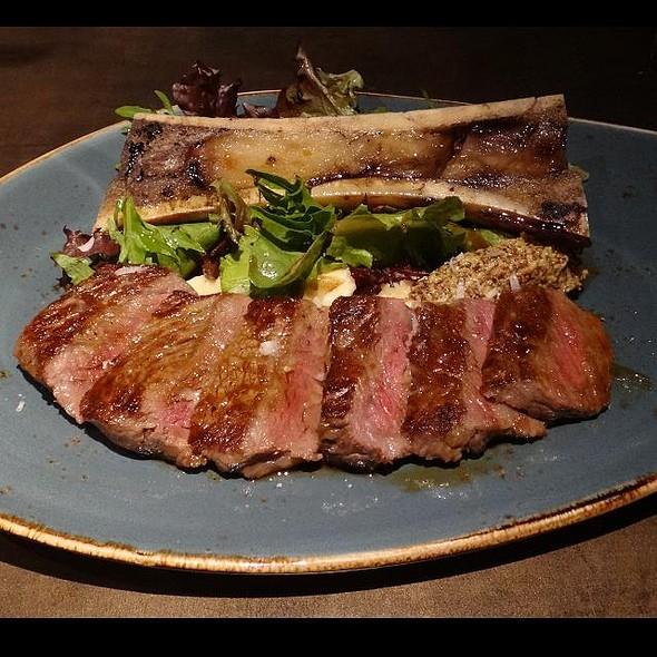 Grass Fed Beef Sirloin Tagliata with Bone Marrow Salad @ Aura