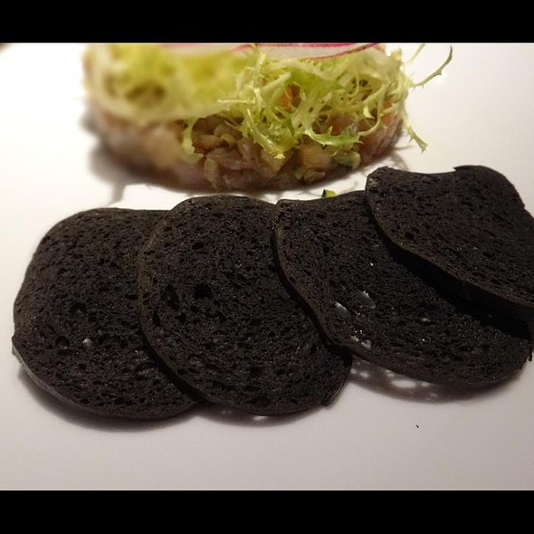 Scallops Crudo With Truffle And Smoked Quail Eggs