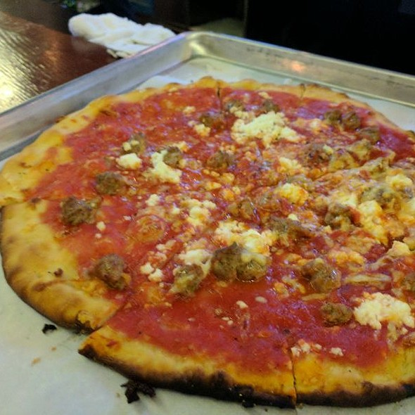 A Plain Sausage And Ricotta Pizza @ Piece Pizzeria and Brewery