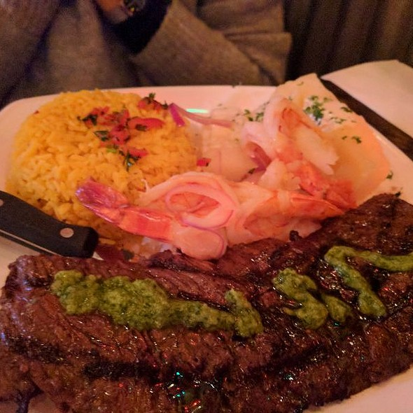 Steak and Shrimp @ 90 Miles Cuban Cafe