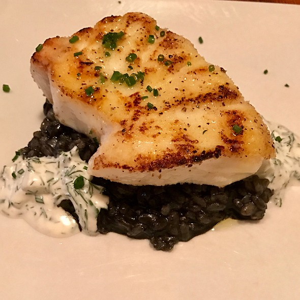 Alaskan Halibut With Black Rice