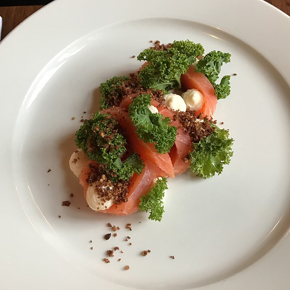 Cold Smoked Salmon With Kale And Horseradish Cream