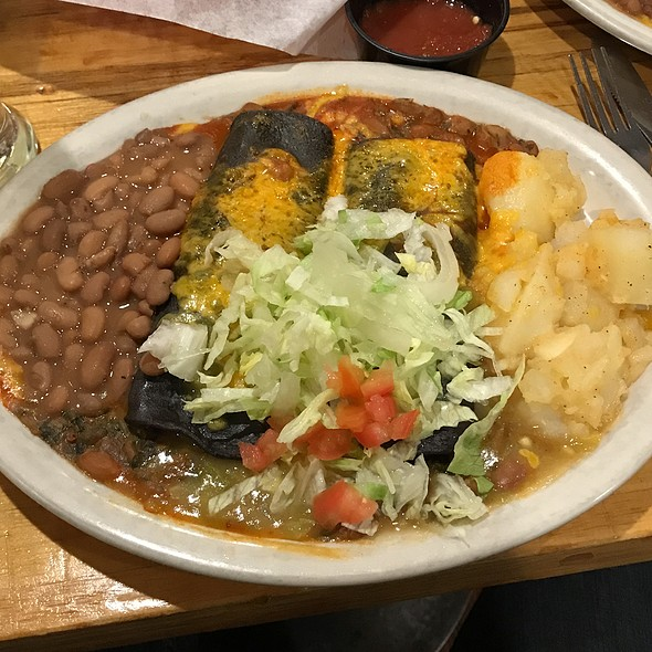 Vegetarian Enchiladas At El Patio De Albuquerque