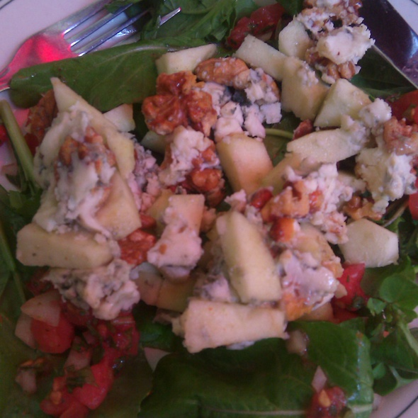 Roquefort, Apple & Walnut Salad with tomato relish & greens @ Barbossa