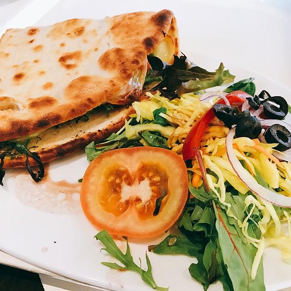 Flatbread With Mozarella And Salad @ (De Bijenkorf) La Ruche