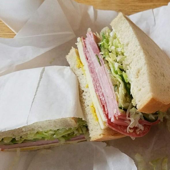 Ham And Salami Sourdough Sandwich