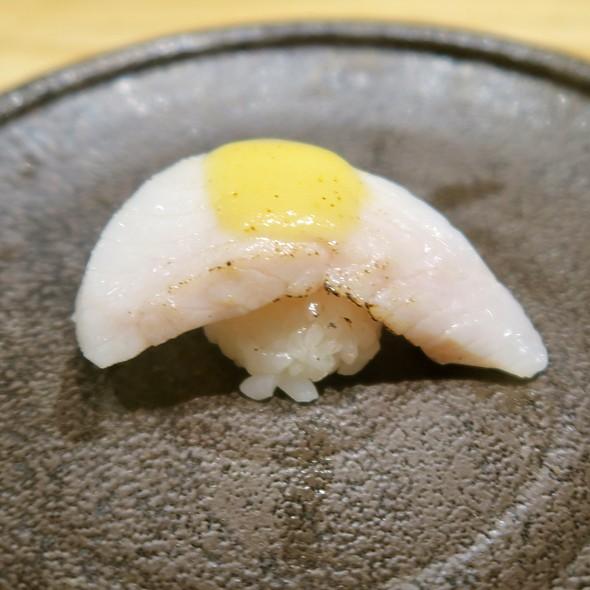 Black Cod Nigiri With Miso Mustard Sauce @ Sushi Zo