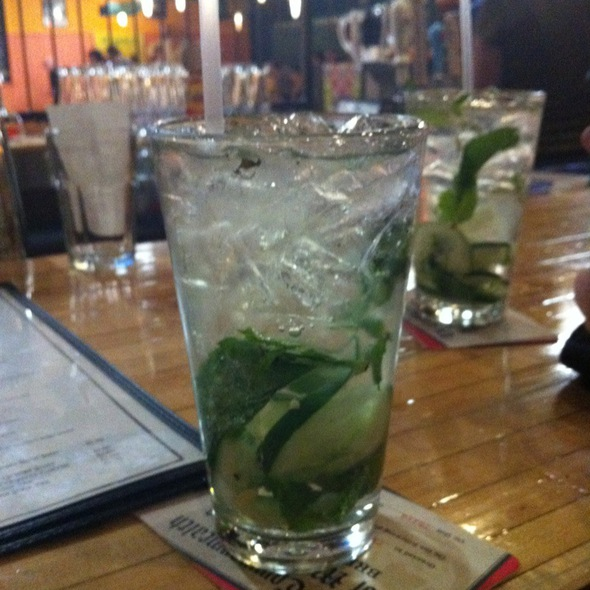Cucumber Mint Gin And Tonic @ Flatbread Company Saccos At Bowl Haven