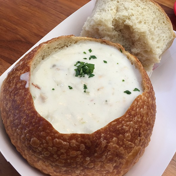 Clam Chowder Bread Bowl @ Boudin Sourdough Bakery & Cafe
