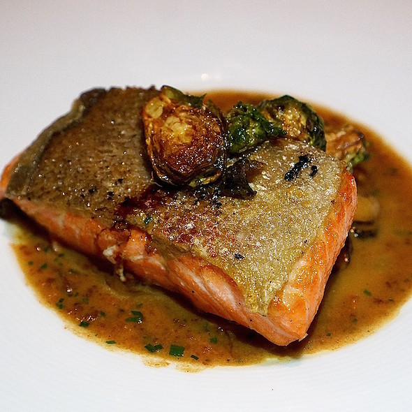 Fjord trout, shiitake mushrooms, mussels, Brussels sprouts, xo sauce