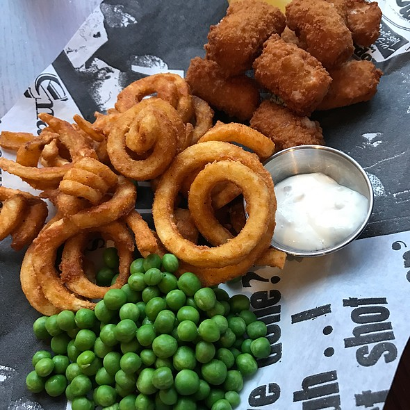 Scampi, Curly Fries And Peas