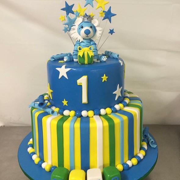 1st birthday cake @ Annettes Heavenly Cakes