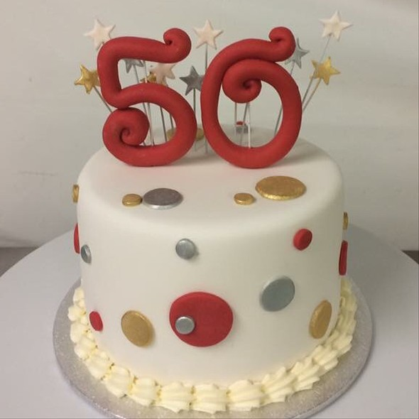 50th birthday cake @ Annettes Heavenly Cakes