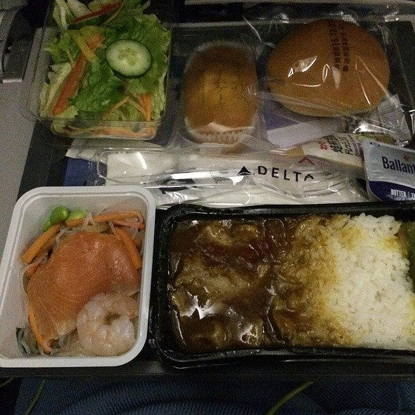 Chicken Curry With Rice Selection @ Delta Airlines (Haneda To Lax)