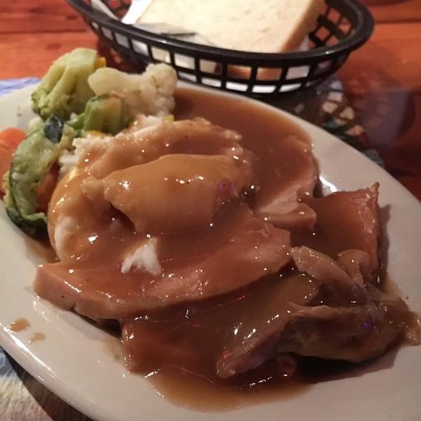 Pork Loin, Mashed Potatoes, & Veggies @ Americus Restaurant