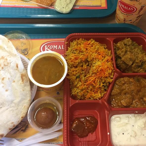 Northern Indian Plate @ Komala's Restaurant