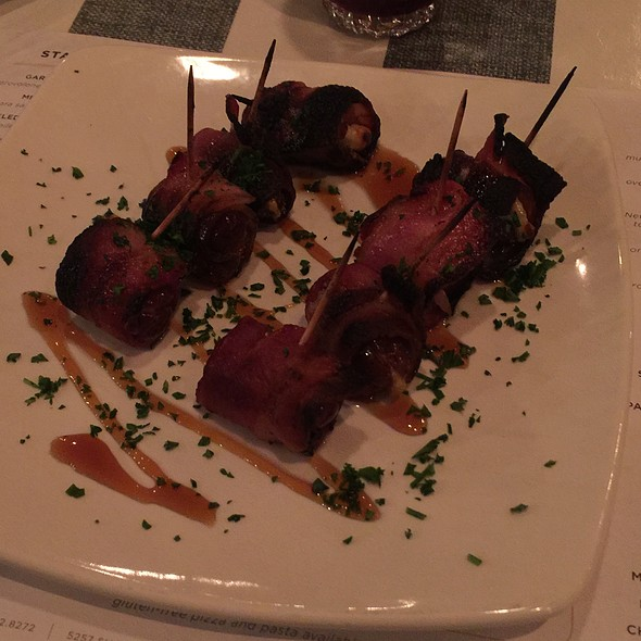 Bacon Wrapped Dates @ Mona's