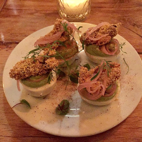 Deviled Eggs With Fried Oysters @ The Whelk