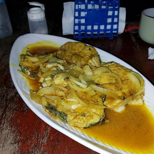 Pan Fried King Fish in Garlic Sauce @ Miss Bridgette's