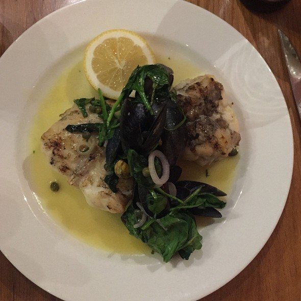 Monkfish On The Bone With Portaferry Mussels And Spinach With Lemon Butter