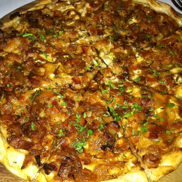 Alsatian Pizza @ Le Bouchon