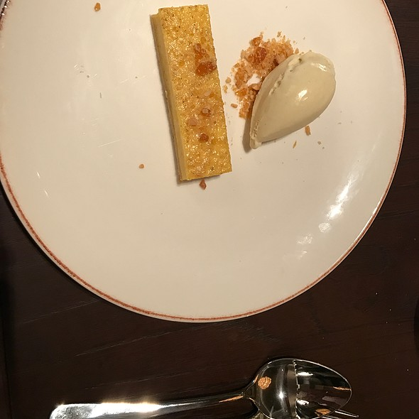 Custard Tart, Banana Ice Cream, Peanut Praline