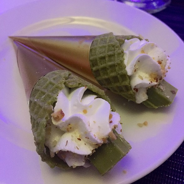 Matcha Mousse In Green Tea Cone @ Park Inn by Radisson Davao