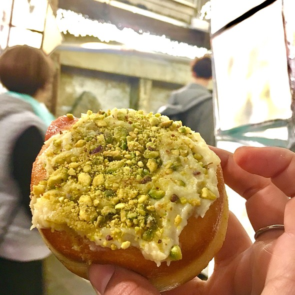 Pistachio And Quince Filled Sufganiyot