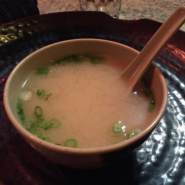 Miso Soup A lovely heart warming miso soup, serving those in carton cups would be an amazing idea, drink on the run, to me it is as good as having tea in a cold weather  @Wasabi