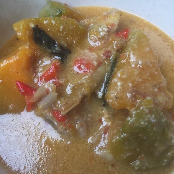Thai food Red curry pumpkin