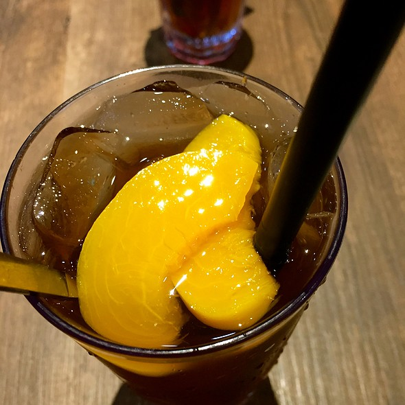 Peach Tea @ Three by Table Concepts @ Seletar Mall