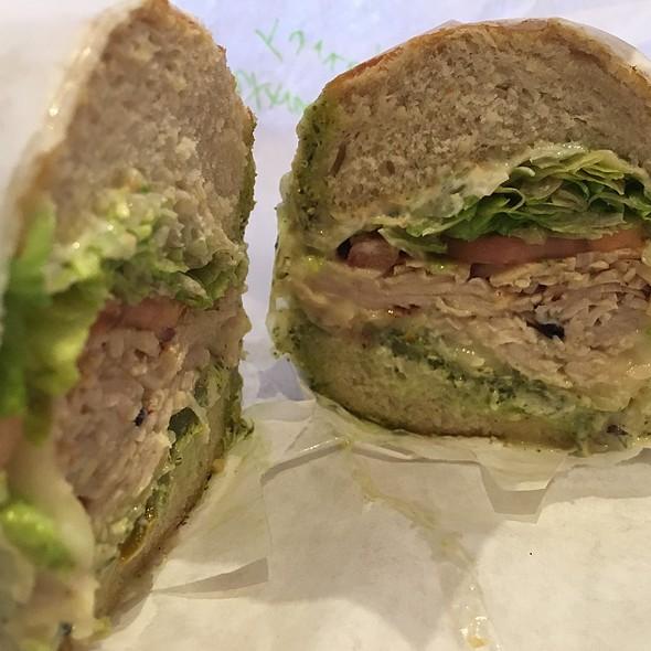 Turkey Sandwich With Pesto On Sourdough