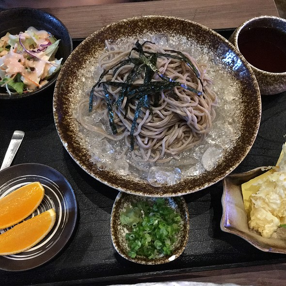 Cold Soba Noodles, Shrimp Tempora, And Cold Dipping Sauce