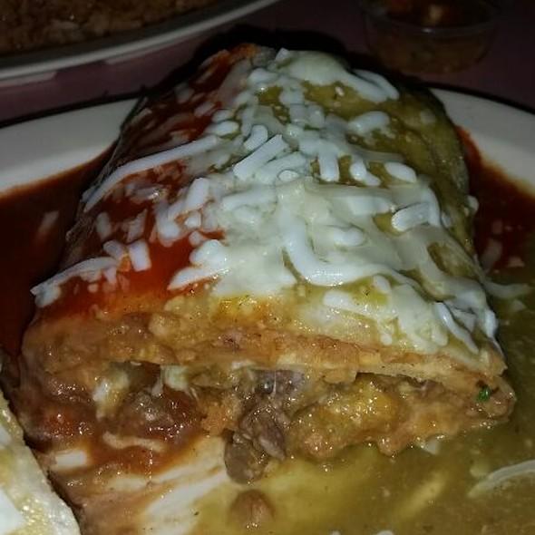 Meat & Cheese Enchilada Burrito