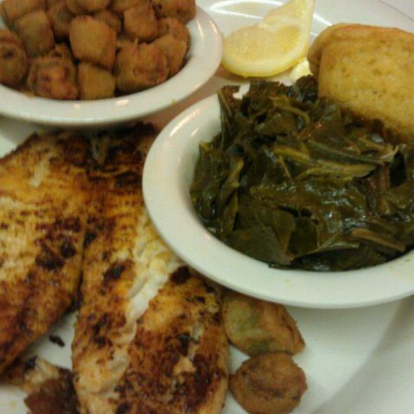Fried Okra, Blackened Tilapia @ Mary Mac's Restaurant