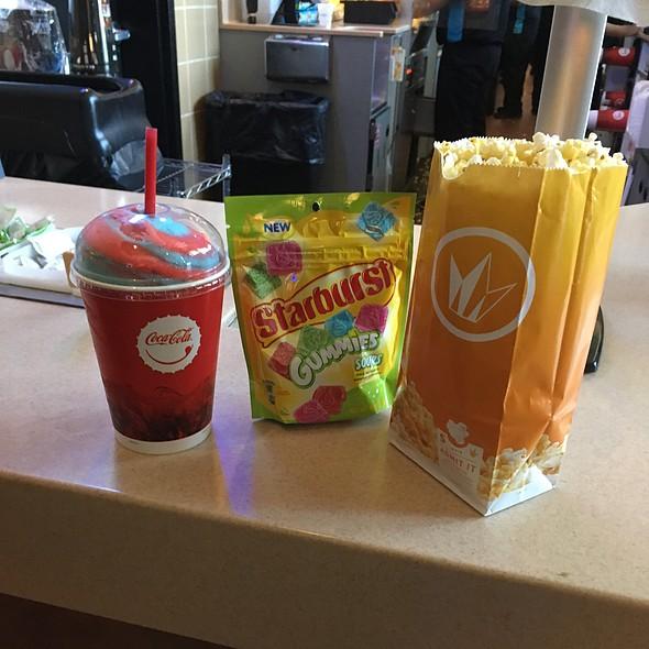 Popcorn, Slurpee, And Starburst Gummies