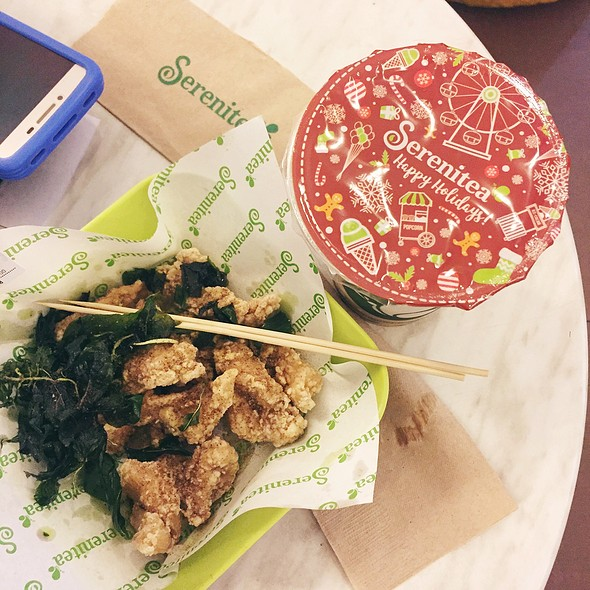 Wintermelon Milk Tea & Basil Chicken