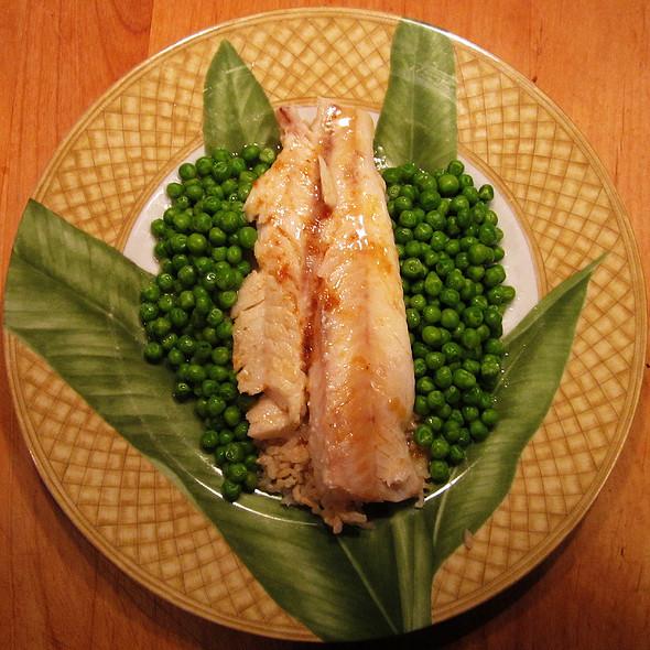 Cod Fish à la Meunière with Peas
