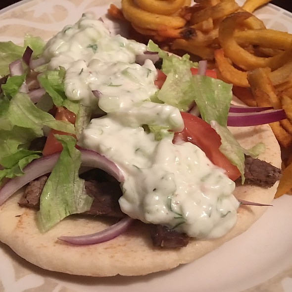 Homemade Gyros Plate With From-Scratch Tzatziki