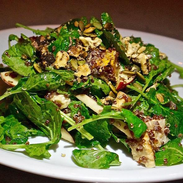 Harvest salad, roasted Ontario root vegetables, pumpkin seeds, quinoa, spiced walnuts baby kale, Ontario apple, wild sumac vinaigrette