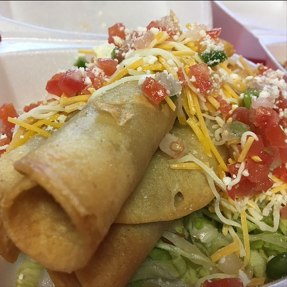 Rolled Chicken Tacos @ Pacos Tacos Mexicali