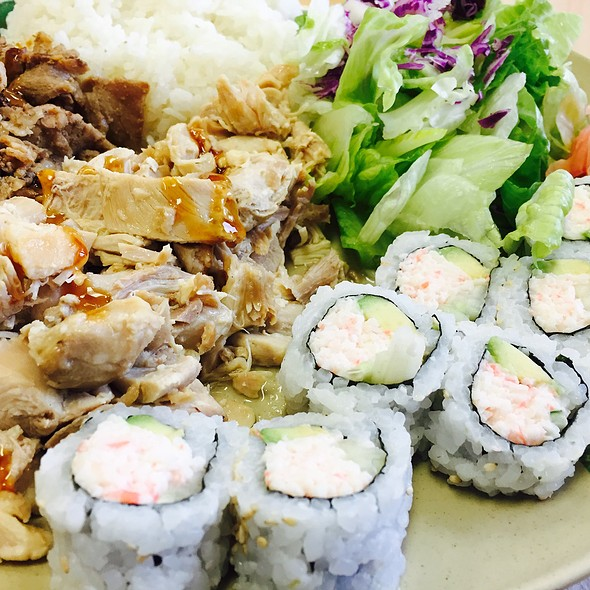 California Roll With Chicken And Beef Teriyaki