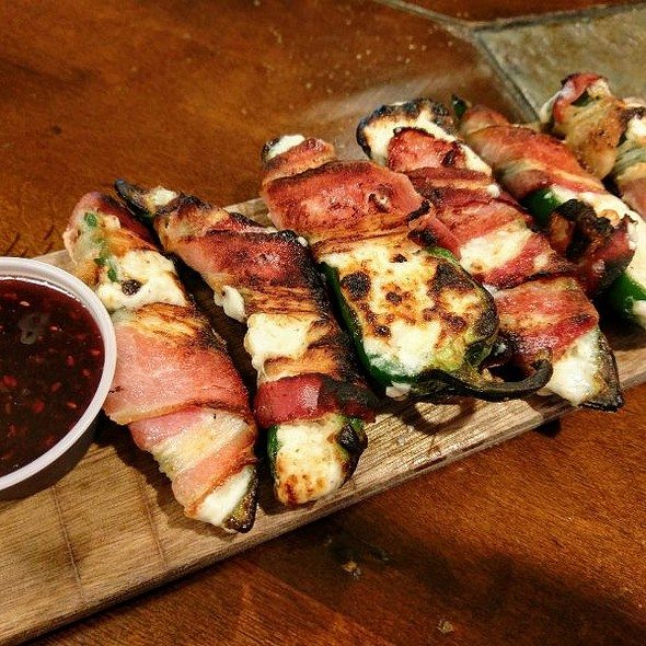 Bacon Wrapped Jalapeno @ Wood Boat Brewery