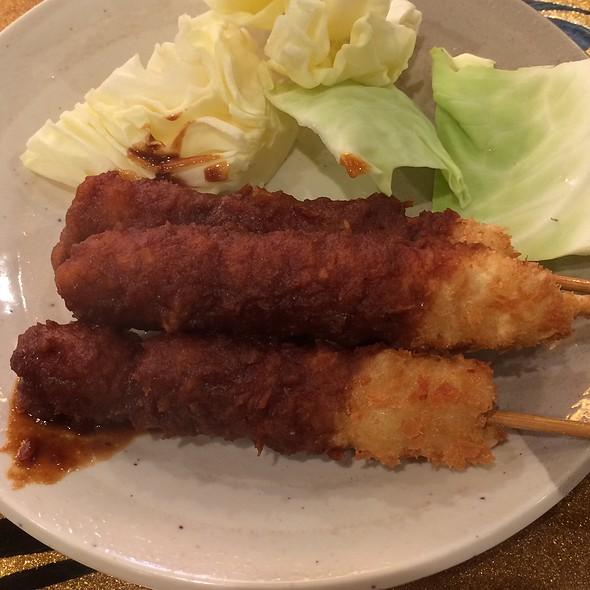 Kushikatsu with miso sauce