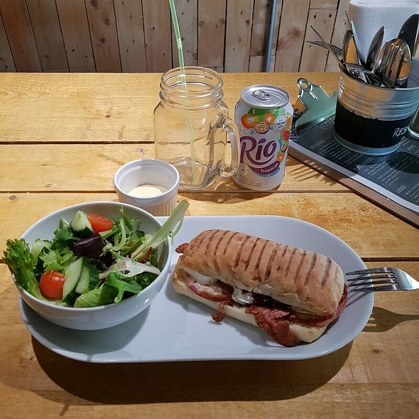 Bacon & Brie Panini with Side Salad