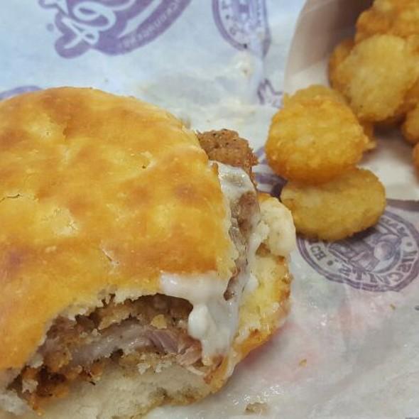 Pork Chop And Gravy Biscuit