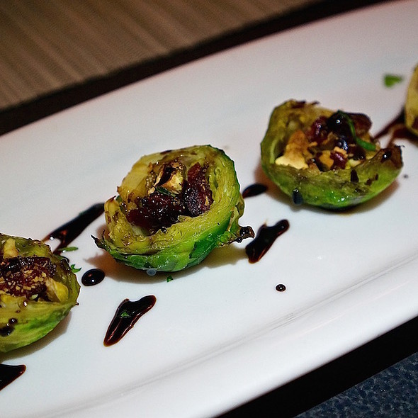 Brussels sprouts, pistachios, dried cranberries