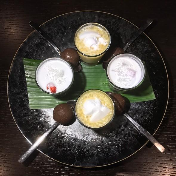 Ice Cream, Black Rice Pudding, Sago Pudding