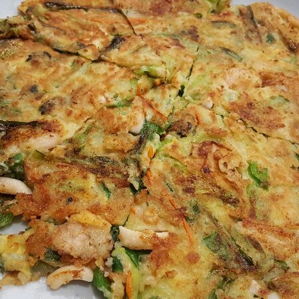 Seafood & Green Onion Pancake